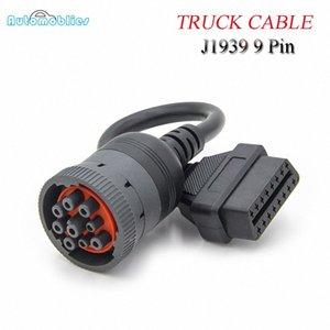 Deutsch J1939 9pin için 16pin Kamyon Dizel Kablo J1939 9 Pin J1708 6Pin için OBDII / OBD2 16 PIN Kadın Diagnosctic Aracı Bağlayıcı Zb9Z #