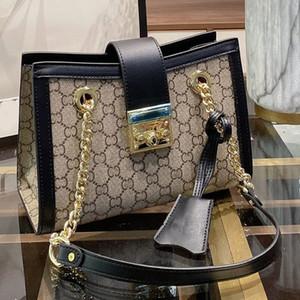 Nouvelle chaîne Sac à bandoulière Messenger Bag Ladies Voyage Bagages classique Double G Lettre Place de verrouillage Décoration Moraillon femmes bourse Livraison gratuite