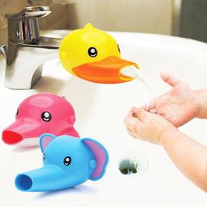 욕실 1 개 새로운 도착 귀여운 만화 동물 수도꼭지 Extender에 대한 아이 어린이 손 세척 싱크 3 색
