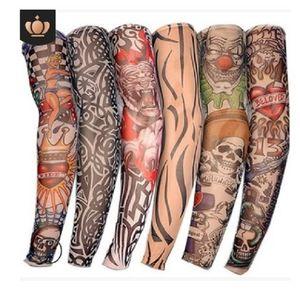 2020 hot sale Protective Sleeves Flowered arm tattoo sleeve Seamless outdoor cycling tattoo sleeve sunscreen sleeve cycling