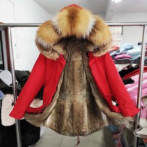 Мужские пуховые Parkas 2021 Мужская зимняя Верхняя одежда Классическая куртка Настоящий меховой воротник с капюшоном Parka высокое качество