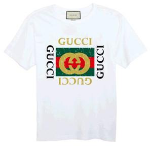 Mens Designer Gucci Tops Casual Moda Marca Camisetas 2018 verão homens casal mulheres Designer Top Tees manga curta Pullover Tamanho S-6X