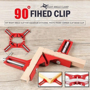 Red Right Angle Clamp Reinforcement Frame Woodworking Tools Durable Degree Corner Clamp 90 Degrees Aluminum Alloy Sturdy
