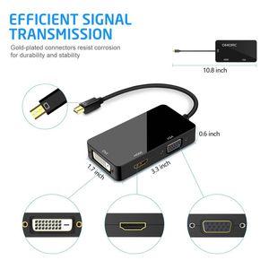 Mini DP к HDMI DVI VGA адаптер Mini Display Port Cable Adapter для Apple Mac Book Pro Air Monitor Mini DisplayPor адаптер