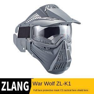 j6gLQ agua pistola de paintball K1 Transformers cara llena campo CS máscara protectora táctica protección de los transformadores de protección Protección len máscara