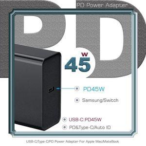 45w Pd QC4 0,0 3 0,0 rápida Cargador USB para la computadora Tipo -C carga rápida adaptador de viaje