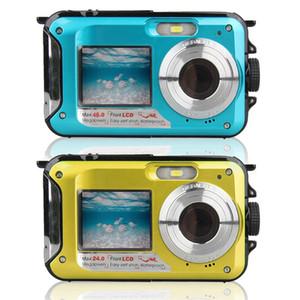 Full HD 1080P Unterwasserkamera 24.0MP Wasserdichtes Digital Video Camcorder Selfie Dual-Sns Point and Shoot DV-Aufnahme für C