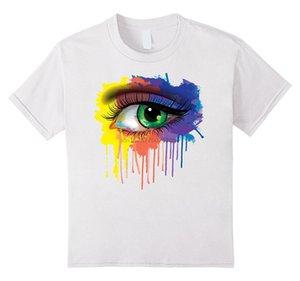 Rainbow Eye T-shirt Hipster Paint Splatter 2020 Summer Hiphop Harajuku Brand Hot Selling T Shirt Movie Shirt Top Tee