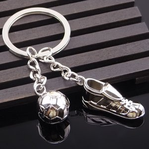 Cool Soccer Shoe Shape Lovely Keyrings Unique Metal Ring Key Chain Keyfob Fashion Jewelry