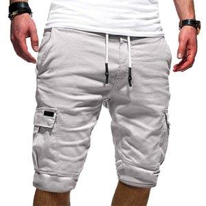 Mens Cargo Shorts Mens Beach Shorts Loose Work Casual Short Pants Men's Multi-pocket Sports Fitness