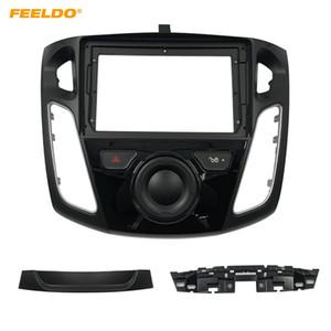 "FEELDO Car Stereo 2Din Fascia Frame Adapter For Ford Focus 12-17 9"" Big Screen Dash Audio Fitting Panel Frame Kit #6564"