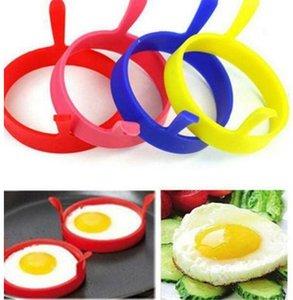 Round Fry Egg Bague Pancake Pocher Moule silicone oeuf Ringf Moules Cuisine ronde de cuisson outils Anneaux crêpes anneau de cuisson Accessoires moule OWC909