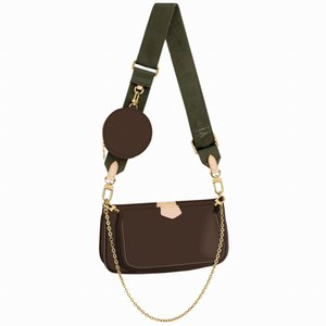 Bolsas de moda Multi PoChette Accessoires Bolsas Mulheres Mini Pochette 3 Pcs Acessórios Crossbody Bag Sacos DMR