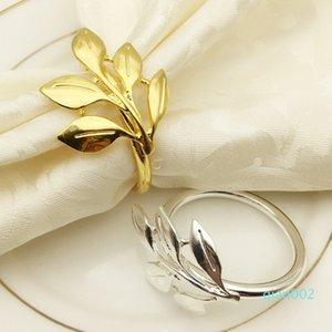 anillo de servilleta de chapado de metal hoja de oro anillo de servilleta de arce manera toalla de papel de escritorio hebilla decoraciones fang