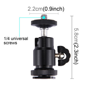 360 Rotation Camera Mini Cradle Tripod Ball Head LED Light Flash Bracket Holder Mount 1 4 Inch Adapter With Lock for Gopro DJI