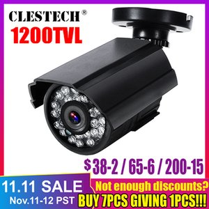 Mini HD Cctv Camera 1200TVL in Outdoor Waterproof IR Night Vision Analog color home monitoring security Have bracket