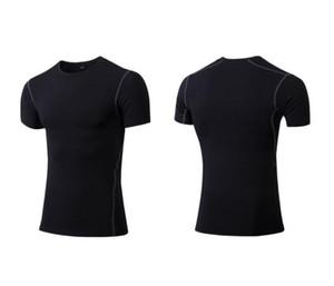 Casual T-shirt 20 21 dos homens de compressão aptidão calças justas em branco cobre camisas respirável