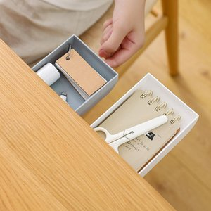 Выдвижной ящик для хранения Набор Pen Holder Организатор Под Стик J2r0 хранения Tray Up Box High Таблица самообслуживания Карандаш качества стола farGN yh_pack