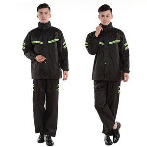 Raincoats Outdoor Waterproof Raincoat Poncho Men Motorcycle Overall Suit Black Plastic Regenponcho Rainwear QEA60YY