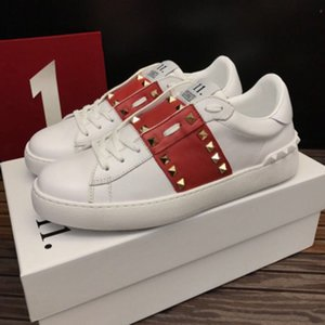2020 nouveaux Hommes Femmes Sneaker Chaussures Casual Italie Marque Stripes Chaussures Marcher Sports Baskets Chaussures C01