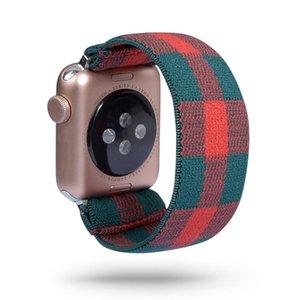 Bracelet en nylon 42 mm pour la bande 38 Bracelet de remplacement série boucle automatique Casual élastique d'Apple Women Watch DrrSa garden2008