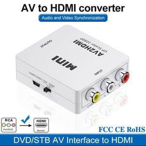 Atacado Mini AV2HDMI Video Converter Box HDMI para RCA AV CVSB L R Suporte de vídeo NTSC PAL Saída HDMI para AV Adaptador