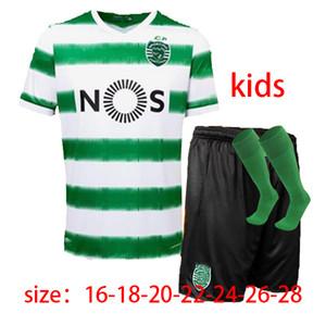 Uomi bambini + calzini jersey Sporting Soccer 20 Camicie 21 di Lisbona di calcio 2020 2021 Ronaldo FERNANDES NANI gioco del calcio Jersey Maillot