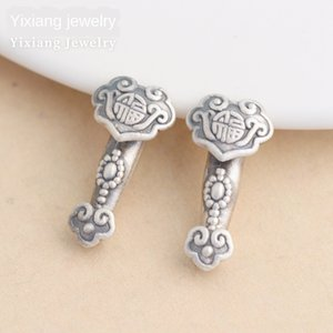 S999 ayak gümüş aksesuarlar 3D sabit El yapımı inci kolye gümüş şanslı düz delik boncuk kolye el yapımı boncuk malzeme gifch gifch Beads
