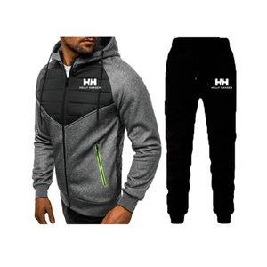 Nouveau Hommes Chemises Costume Survêtement Sweat-shirt à capuche Costume + Toison pantalon de jogging Sweat Homme Pull 3XL Sporting Costume Homme
