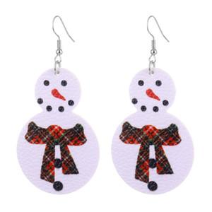 Orecchini di cuoio 2020 del cuoio 3D PU Nuovo Natale orecchini albero di Natale del pupazzo di neve decoraction adulto orecchini di cuoio di moda con la nave libera