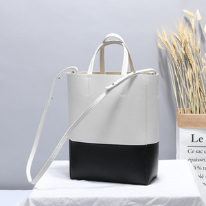 Charm2019 Pattern Spell Цвет Bucket Мода натуральная кожа сумка Вилл Capacity Корейское издание сплайсинга Женщина Пакет натуральной