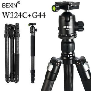 Professional fibra de carbono leve de viagem do tripé portátil DSLR câmera de vídeo estande de tiro foto para a câmera