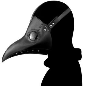 Doctor de la plaga de aves Máscara de punta larga de Cosplay Pico de Steampunk de Halloween cosplay Atrezzo Crow Reaper Mask JK2009XB