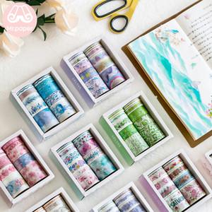 10pcs Sr. Papel / set 24 projetos bonitos Ocean Stars Flamingo Unicorn Washi Tape japonês Jornal planejador Masking fitas adesivas T200229 2016