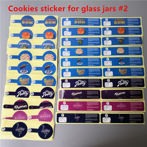 Glass jar Cookies Runtz PVC Labels For 2oz 60ml childresistant glass jar Gary Payton Cookies London Pound Cake Stickers Jungle boyz labels