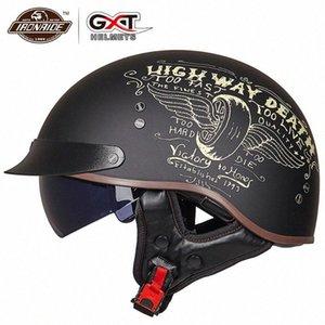 GXT casco de la motocicleta de la media cara Casco Moto cara abierta casco de la moto de Seguridad Eléctrica Moto Casque para las mujeres / hombres Voil #