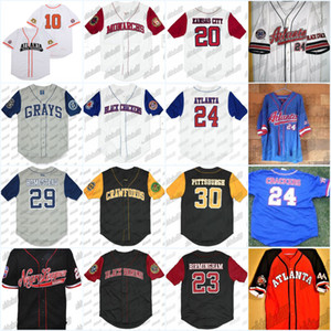 Nero Cracker Negro League Button Down Big Boy Homestead RETRO baseball Jersey per Stadio di baseball ricamo di alta qualità