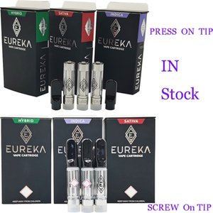 Eureka Vape Pen cartucho 510 de cerâmica Cigarros Cartuchos E Vape Carrinhos 0,8 ml vaporizador Pen Grosso Oil Atomizers OEM Box Packaging