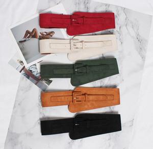 Gran sello de la cintura correa de la faja femenino vestido adorno Contratado 100 toma la correa para que coincida con la falda de la capa del suéter Negro Rojo Tiendas Online Karate SMTM #