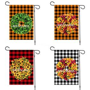 Сад Флаг Печать Маленькая собака шаблон Флаги Cristmas стиль нескольких цветов Anner Новое прибытие # 950