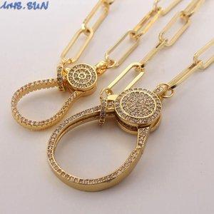 MHS.SUN Fashion Can Boucle ouverte zircon cubique collier pendentif Exagération Chunky chaîne collier pour bijoux cadeau 1PC récent