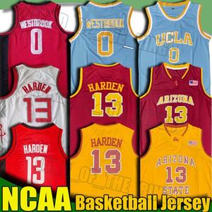NCAA الشمس الشياطين جيمس هاردن 13 جيرسي UCLA راسيل ويستبروك 0 الفانيلة الكلية لكرة السلة الفانيلة حكيم عليوان غرانت هيل ريترو