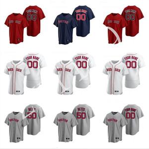 2020 Red Sox Jersey Mens Andrew Benintendi Ted Williams Brandon Workman Nathan Eovaldi Steve Pearce baseball cucito pullover su ordinazione