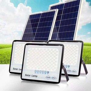 Солнечный уличный свет солнечных батареях Прожекторы 200W 300W IP67 Настенная лампа с пультом дистанционного управления освещением безопасности для Ярд сада Желоб Гараж
