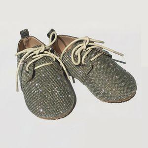 Littlesummer 어린이의 빛나는 크리스탈 재질 미끄럼 방지 아기 어린이 학교 여자 캐주얼 신발