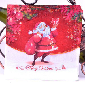 20PCS / 조합 광고 눈사람 파티 아름다운 인쇄 냅킨 크리스마스 냅킨 크리스마스 테이블 냅킨