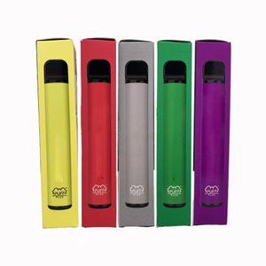미국 퍼프 플러스 처분 할 수있는 E 담배 포드 Vape 펜 스타터 키트 사전은 포드 카트 550mah 배터리 Puffplus 장치 퍼프 바 포드 3.2ml 작성