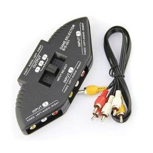100pcs Switcher 3 Ports 3RCA Video Game Switch Verteiler AV Cinch Splitter Box Mit Cinchkabel Converter