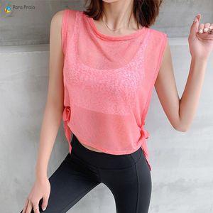 Para Praia Korean Спортивная одежда женщин Фитнес Женщины Спорт Футболка Gym Workout дышащая футболка Gym Спортивная