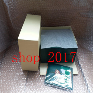 XX new Luxury Dark Green Watch Box Gift Case For Rolex Watches Booklet Card Tags And Papers In English Swiss Watches Boxes0924